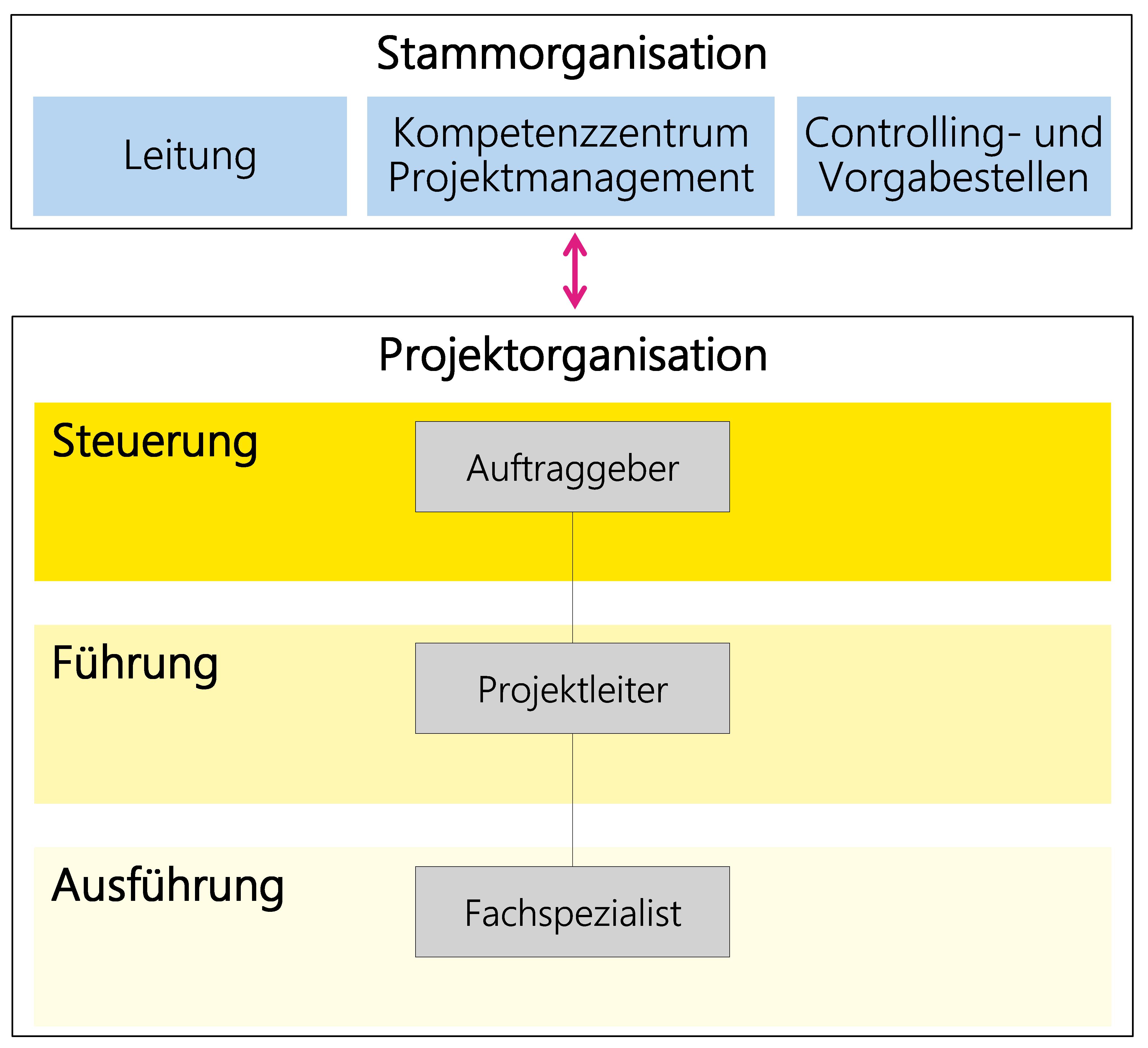 Abbildung 21: Beispiel einer minimalen Projektorganisation